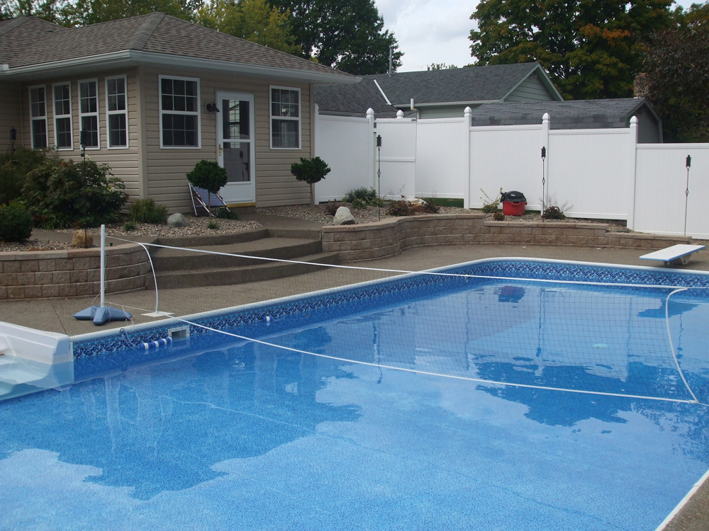 Newark custom pools design zanesville pool photos for Pool design for volleyball