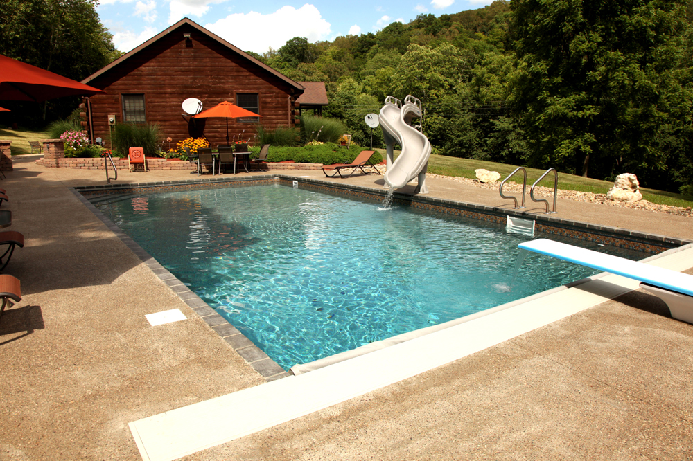 Zanesville custom water features photos - Electric swimming pool covers cost ...